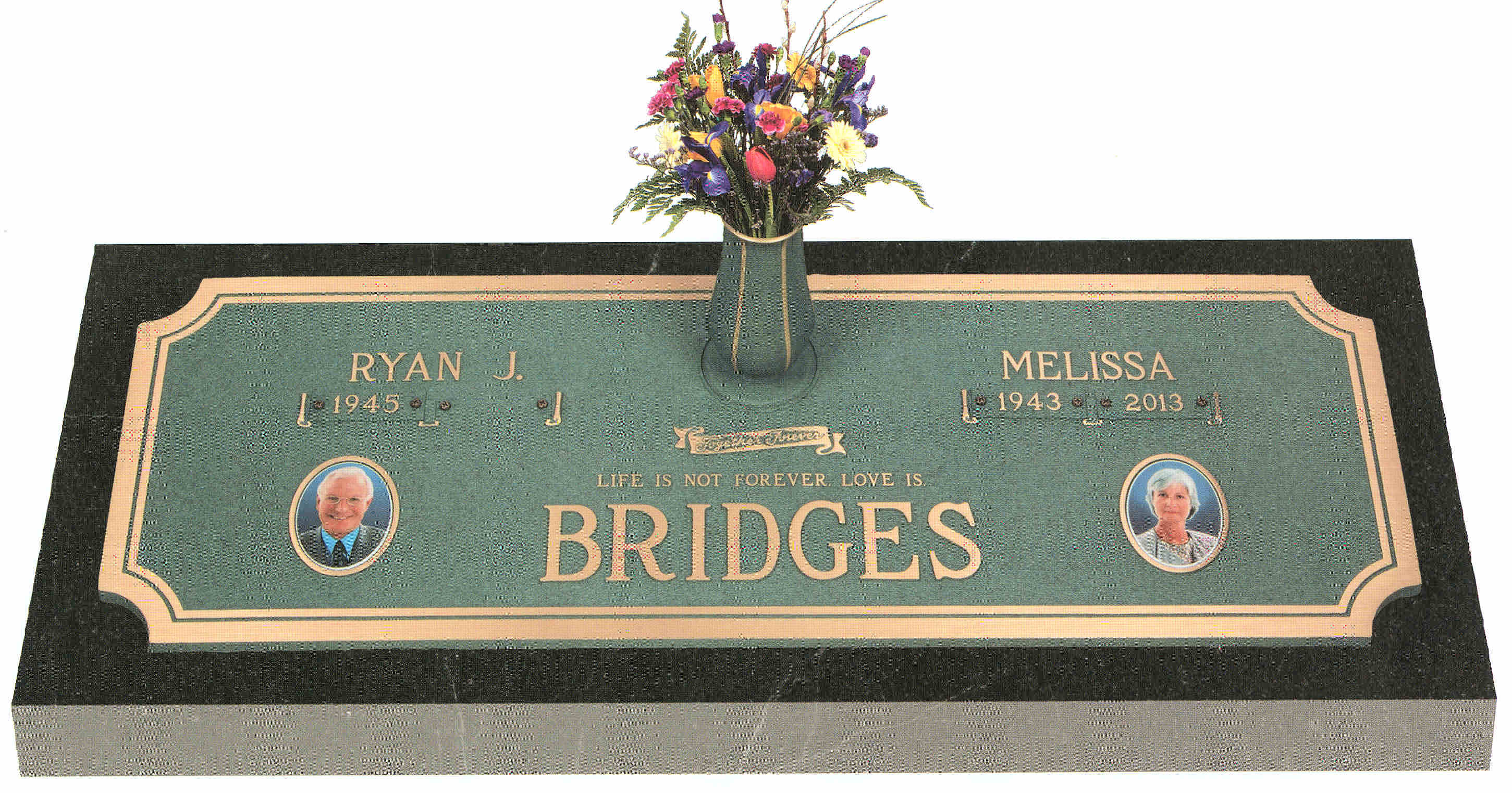 Bronze Companion Markers Headstone Cemetery Monument Marker