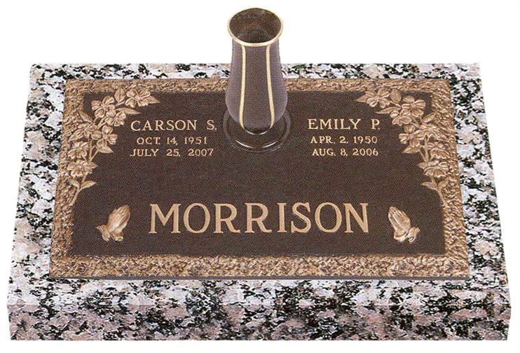 Double Interment Grave Marker Designs Cemetery Monument Marker