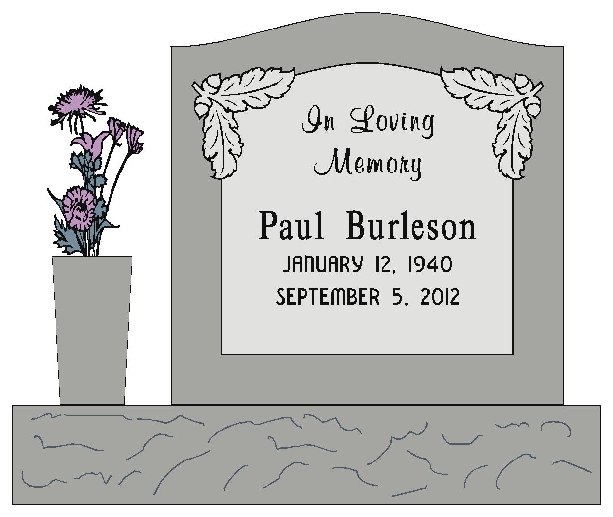 Single Monument Headstone Cemetery Monument Marker Headstone